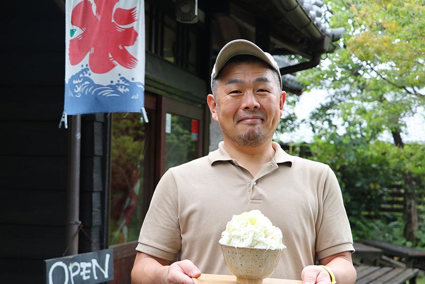 同町の坂元早雄さんが栽培したアリスメロンで作る「アリスメロンミルク」
