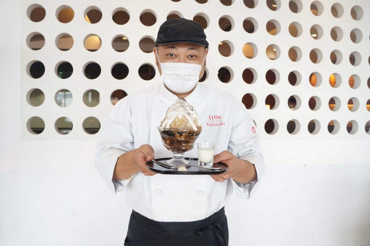 「たくさんの人に食べに来てほしい」と話すシェフの佐々木誠さん