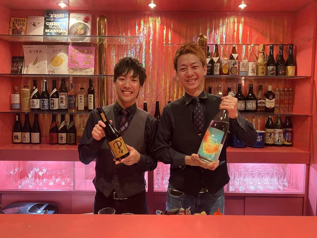 左から店長の永易恭之介さん、店主の粟戸稜大さん