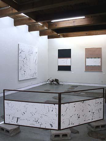 書家・沢村澄子さん作品展の様子。ギャラリー彩園子(盛岡市)で