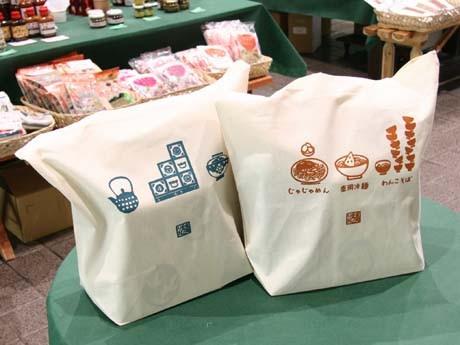 エコバッグは盛岡三大麺と工芸品の2バージョンを用意