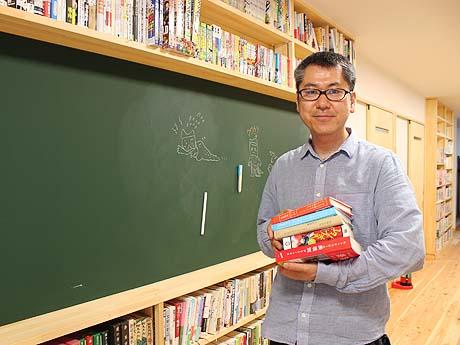 「古本の寄付も随時募集しています」と理事の沼田雅充さん