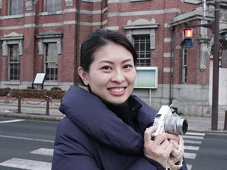 「盛岡さんぽ」を運営するウェブデザイナーの浅野聡子さん