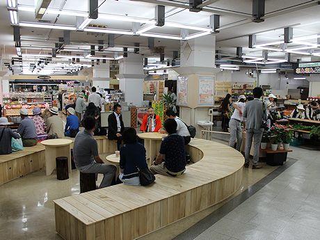 ショッピングスペースが広くなって、ゆっくりとお買い物が楽しめる空間に