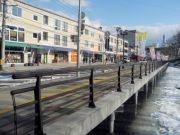 盛岡の亀ヶ池桟橋リニューアル 記念行事で「祝い餅」