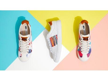 盛岡の裂き織がアシックスとコラボ 伝統工芸を靴に、オニツカタイガー新商品