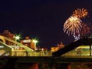 盛岡駅前商店街が「おもてなし花火」 水曜日の夜に彩りを添えて