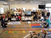 「受験を倒せ」、盛岡の塾で1万個のドミノ倒し 中高生らが合格への願い込めて