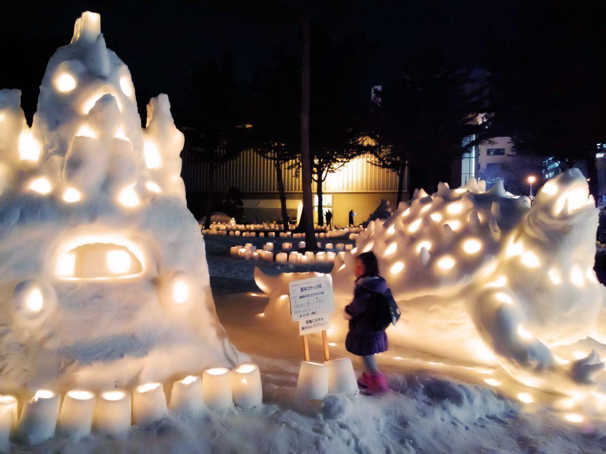 昨年の「雪あかりアートコンクール」の様子
