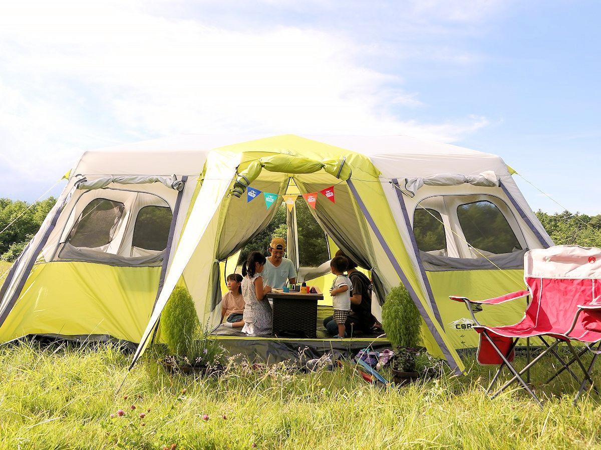 八幡平トラウトガーデン緑地帯でのキャンプイメージ