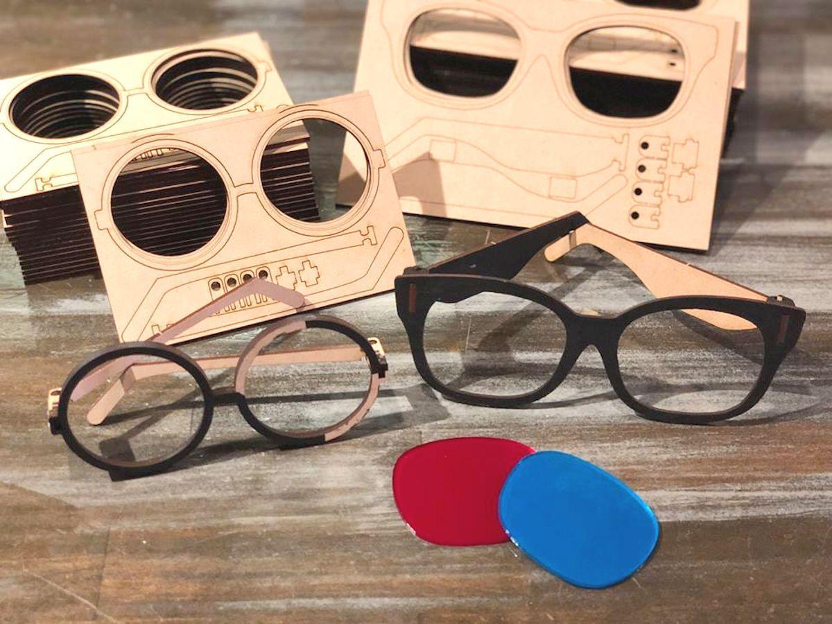 子ども向けワークショップで作るサングラスは本格的なデザイン