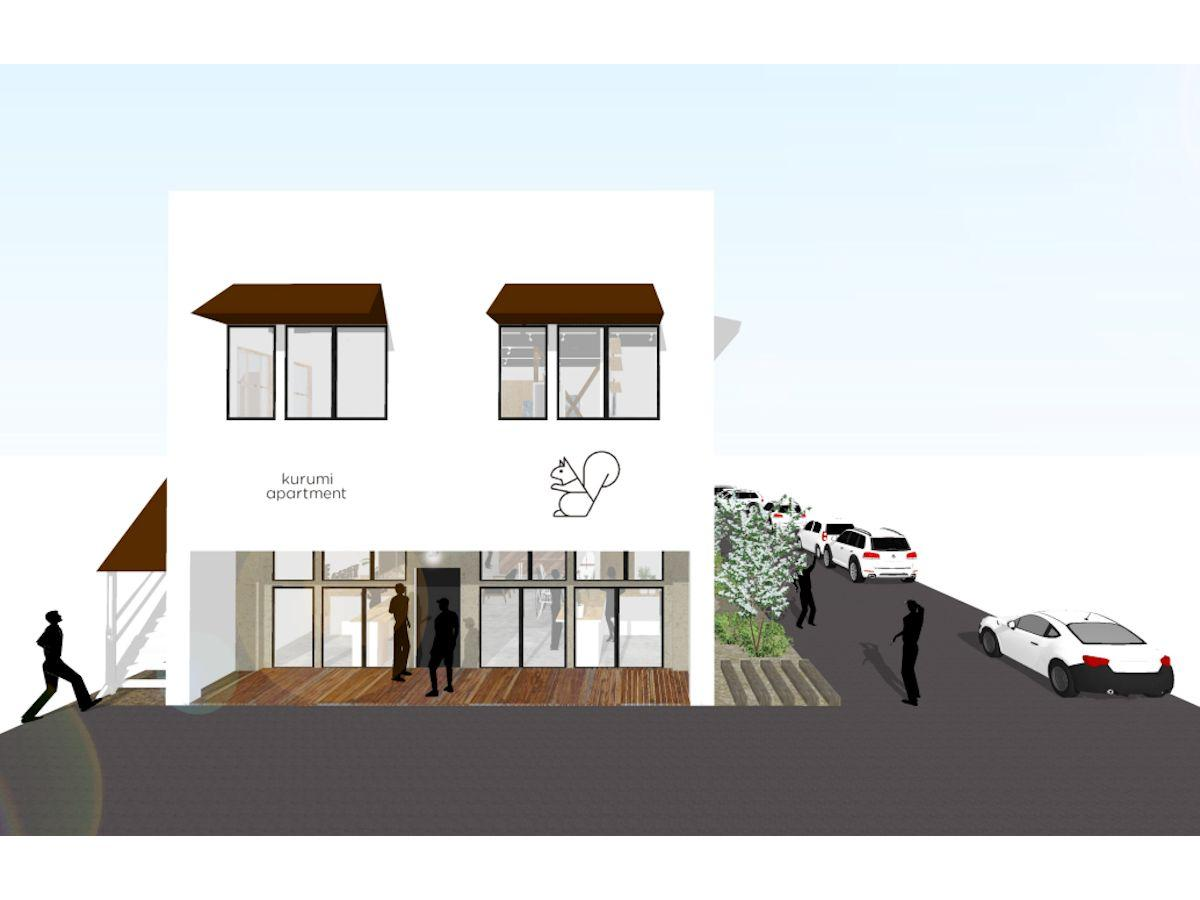 「kurumi apartment」の外観イメージ