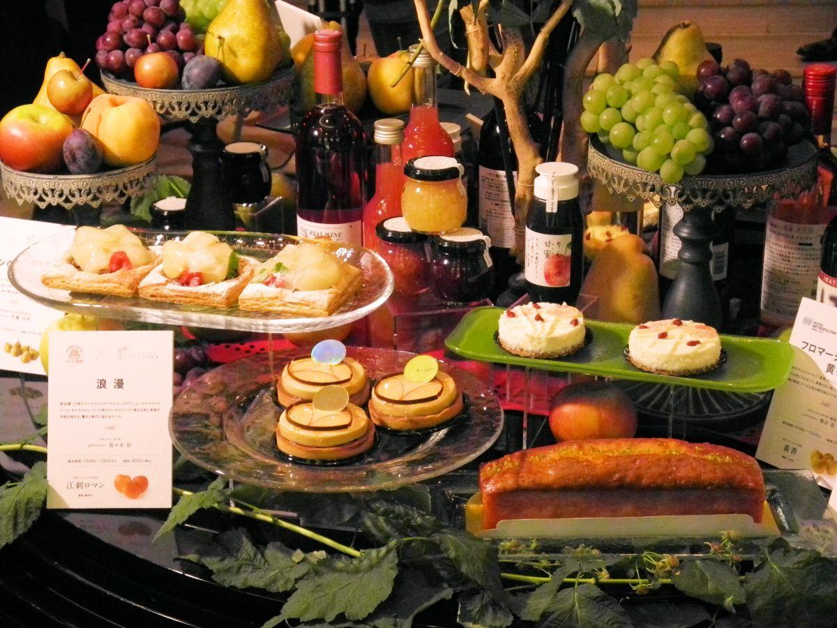 発表された「いわて果実」を使用した4種類のスイーツ