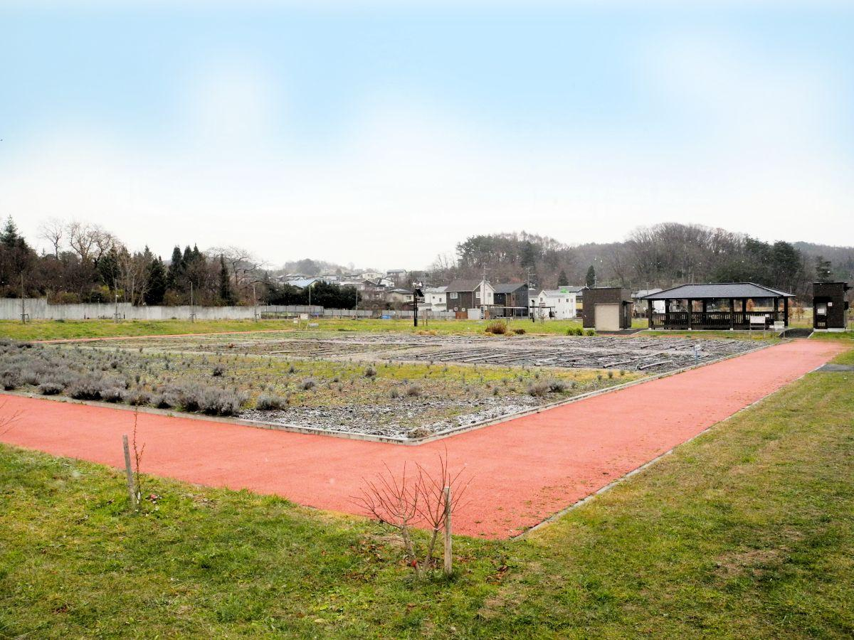 旧競馬場跡地の環境ゾーンにある「エコアス広場」