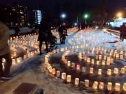 盛岡で震災追悼行事「祈りの灯火」今年も 震災から8年、「伝える努力続けて」