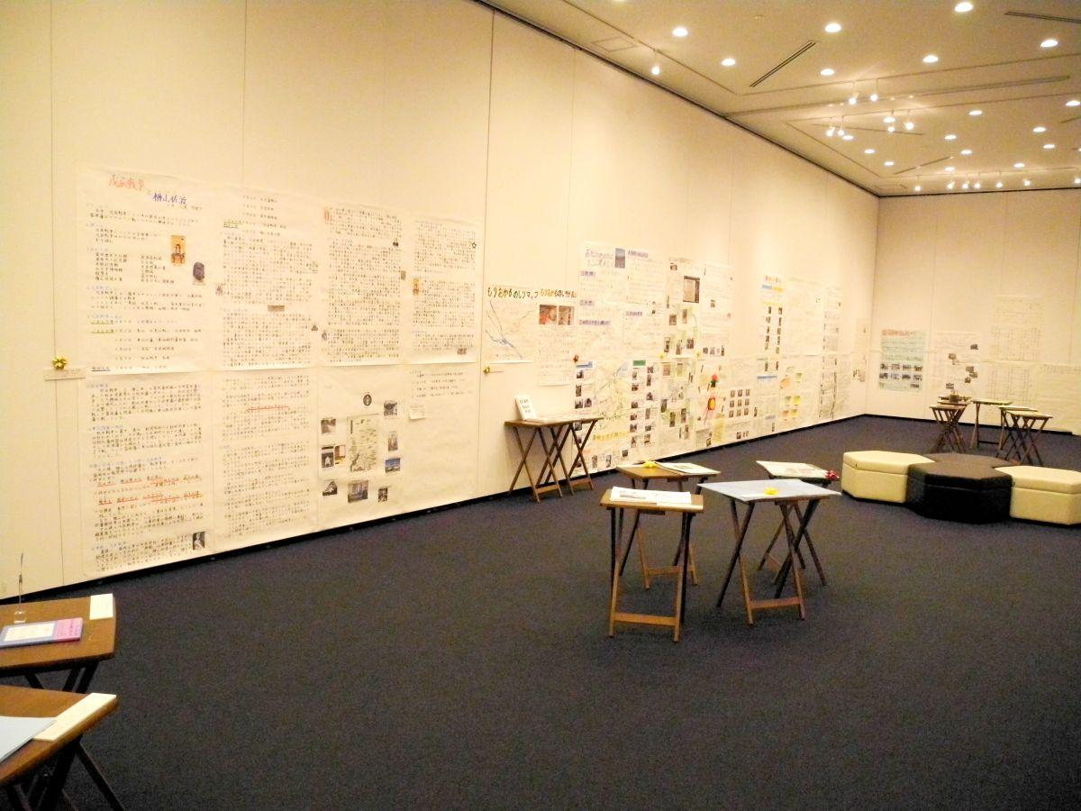 子どもたちの「盛岡愛」にあふれる研究が並ぶ展示室