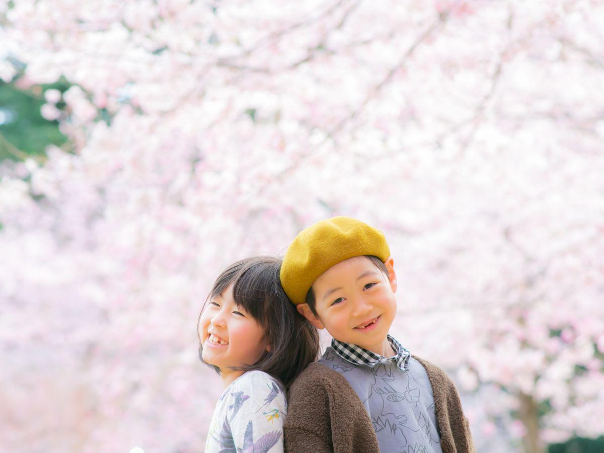 菊池さんが仙台で撮影した桜のロケーションフォト
