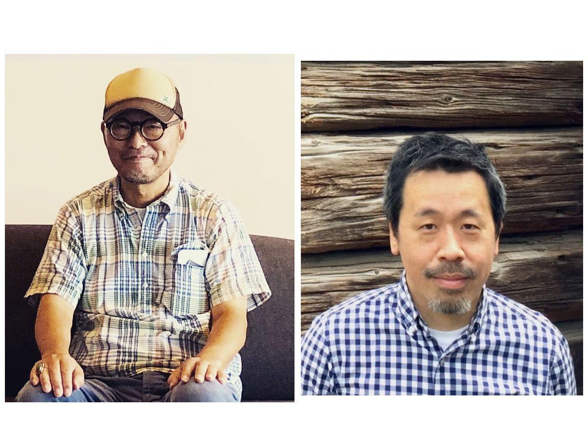 トークイベントを行う岡本仁さん(左)と河内タカさん(右)