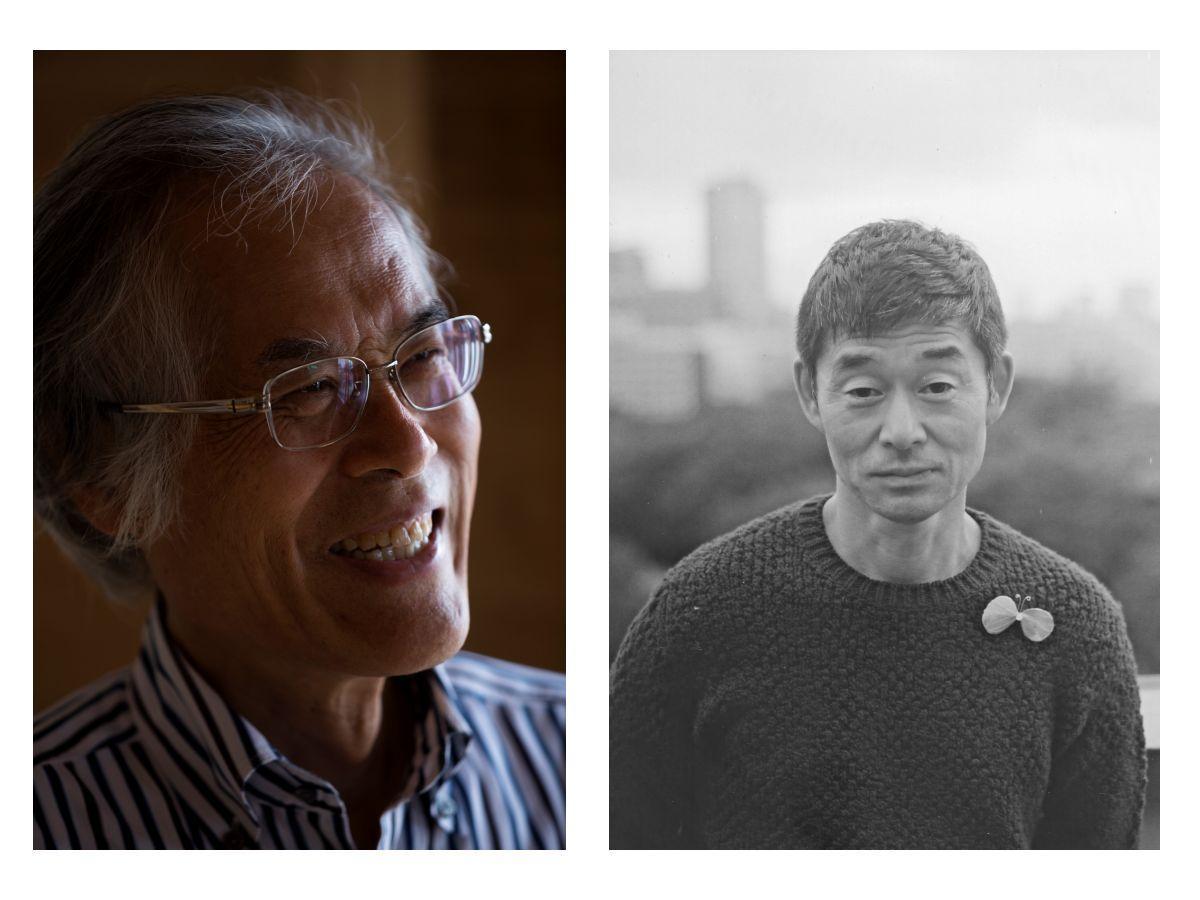 講演会に出演する藤森さん(左)と皆川さん(右)