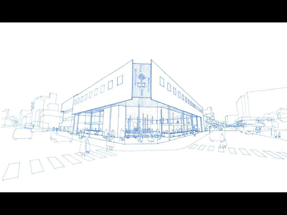 現在公開されている「(仮称)新盛岡バスセンター」イメージ図