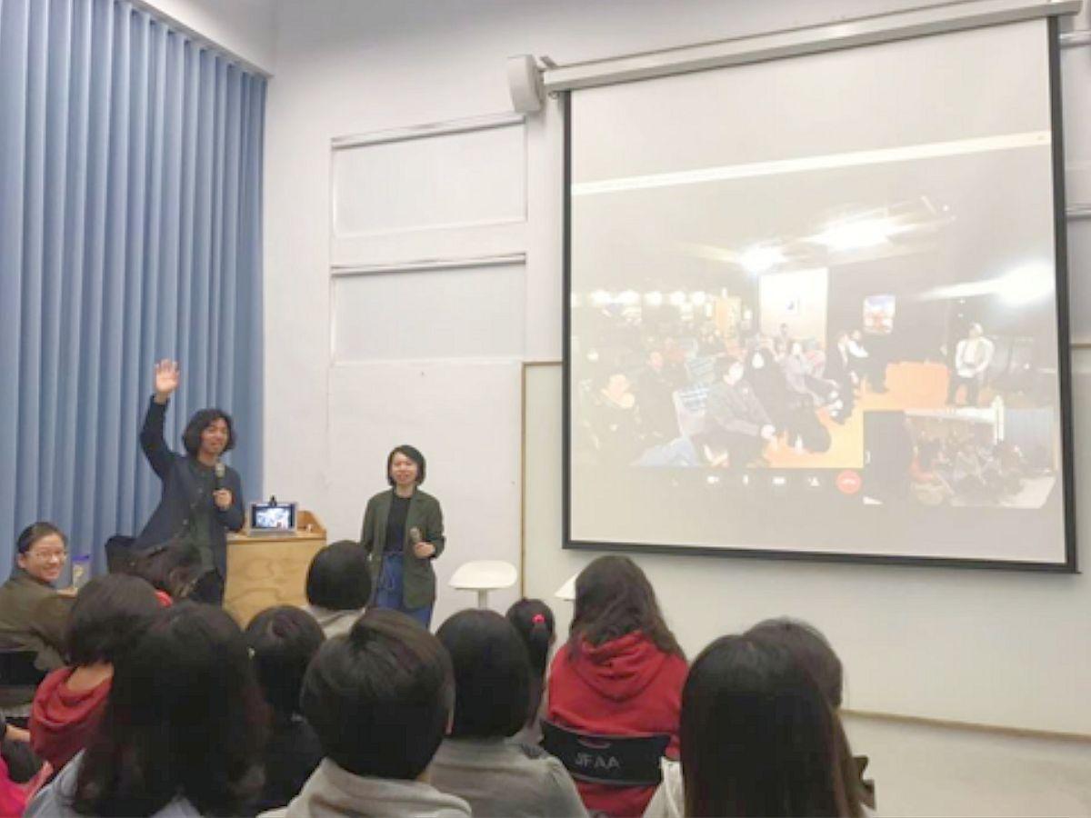今年3月に行われた宮古と台湾を結んでのオンライン中継の様子