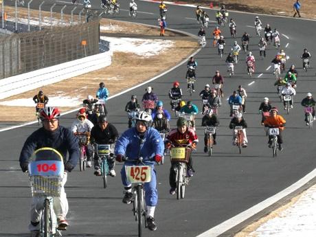 ママチャリグランプリ大会の様子