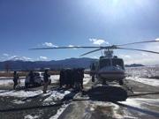 山梨県内のファミマにヘリコプターで商品配送 大雪の影響受け
