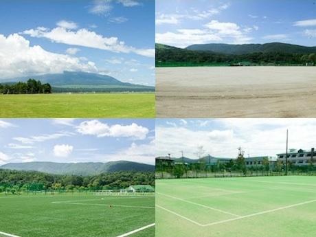 会場となる「山中湖交流プラザきららの」のスポーツ施設