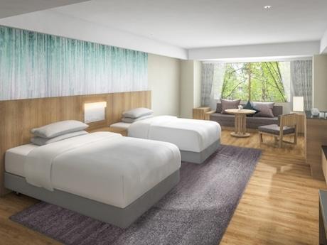 「富士マリオット山中湖」客室