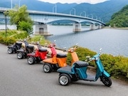富士五湖を三輪バイクで周遊 河口湖町でレンタル開始
