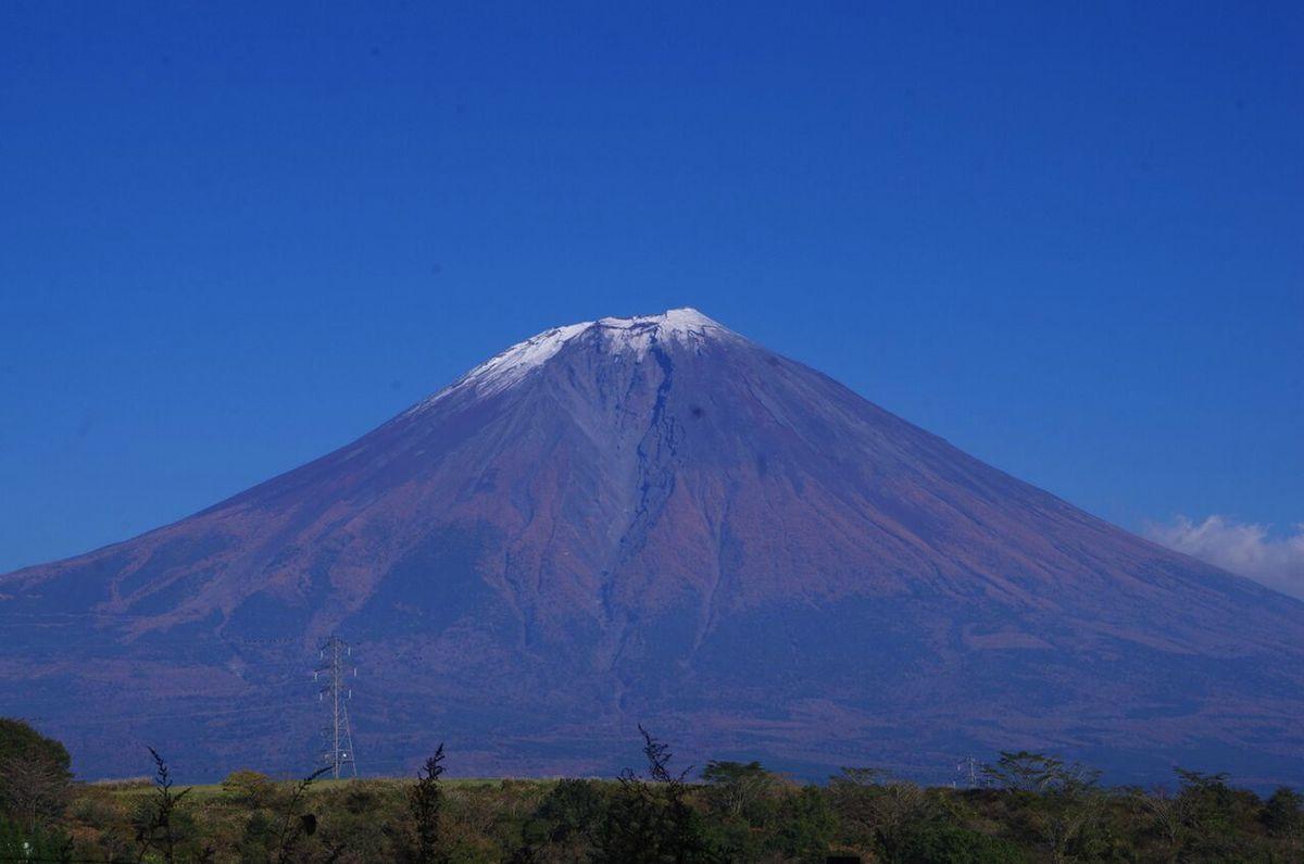 富士宮から望む秋の富士山