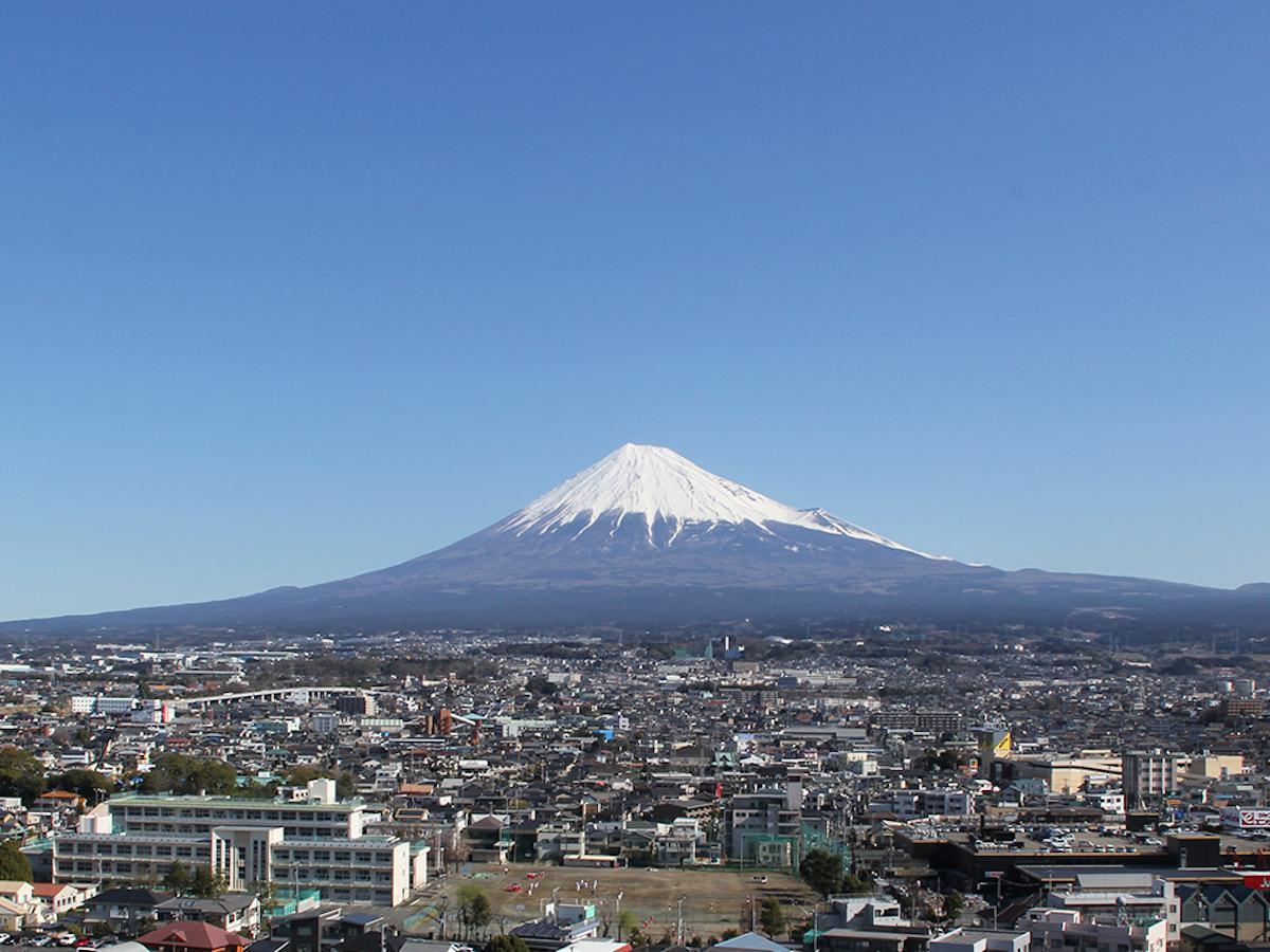 富士市市役所からの富士山