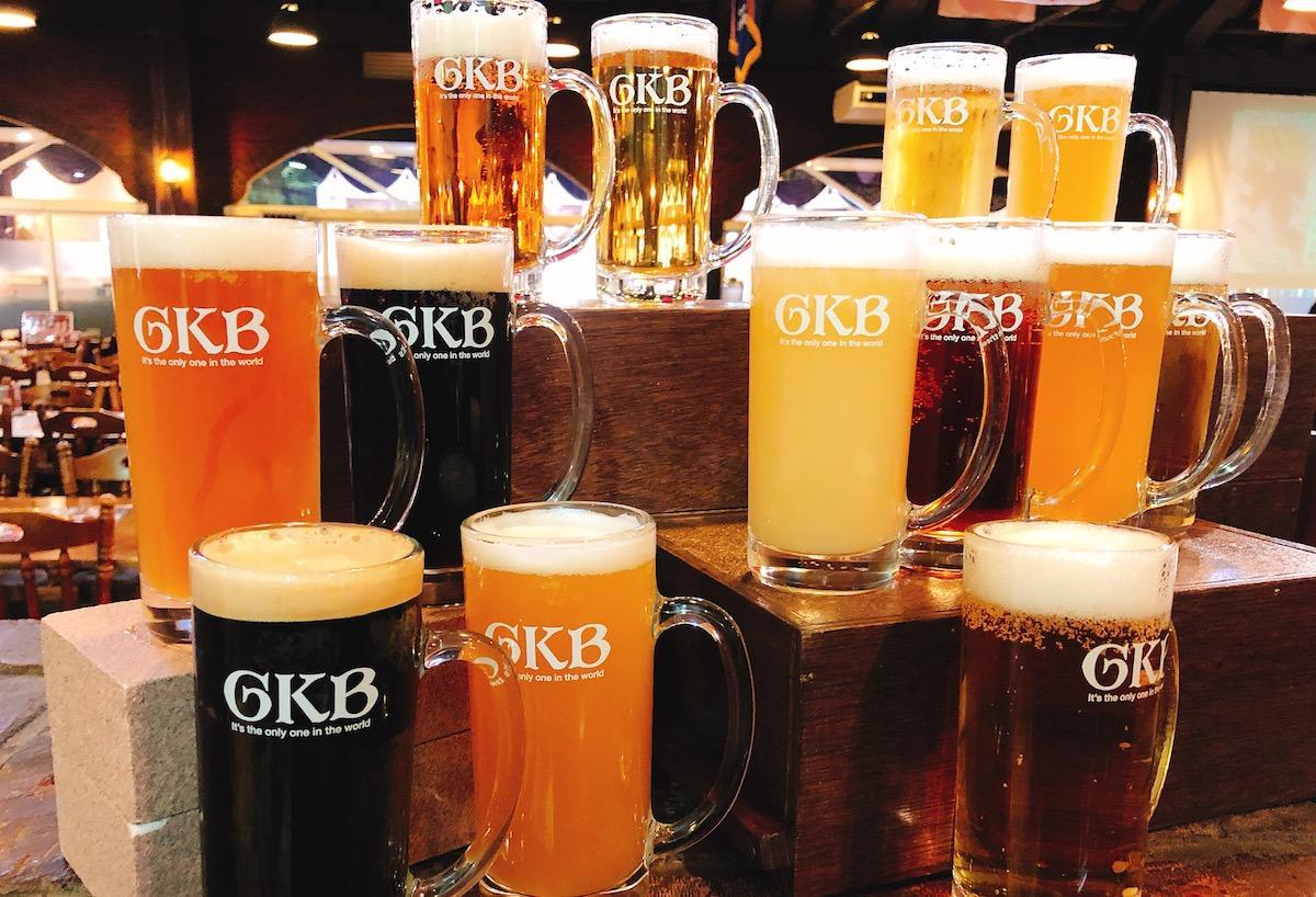 御殿場高原ビールと伊豆の国ビールのビールを提供