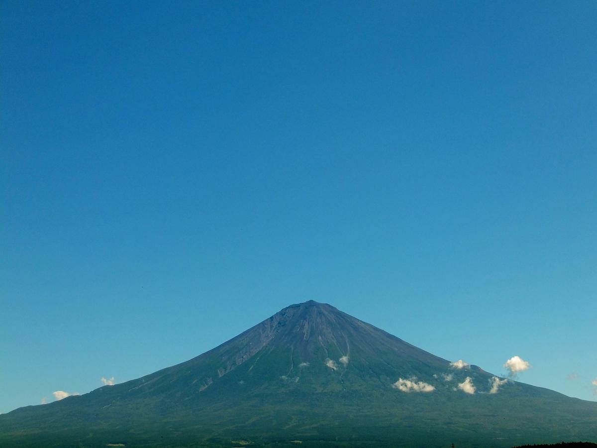 富士宮市から見た富士山