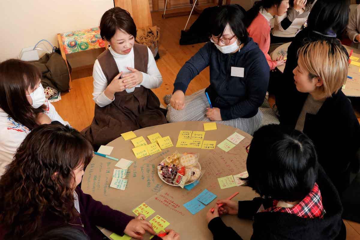ワークショップ形式のお話し会「富士市で働く、私の思い」の様子