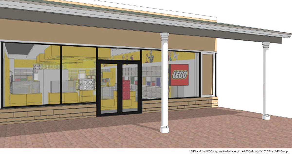 「レゴストア御殿場店」外観イメージ LEGO and the LEGO logo are trademarks of the LEGO Group. © 2020 The LEGO Group.