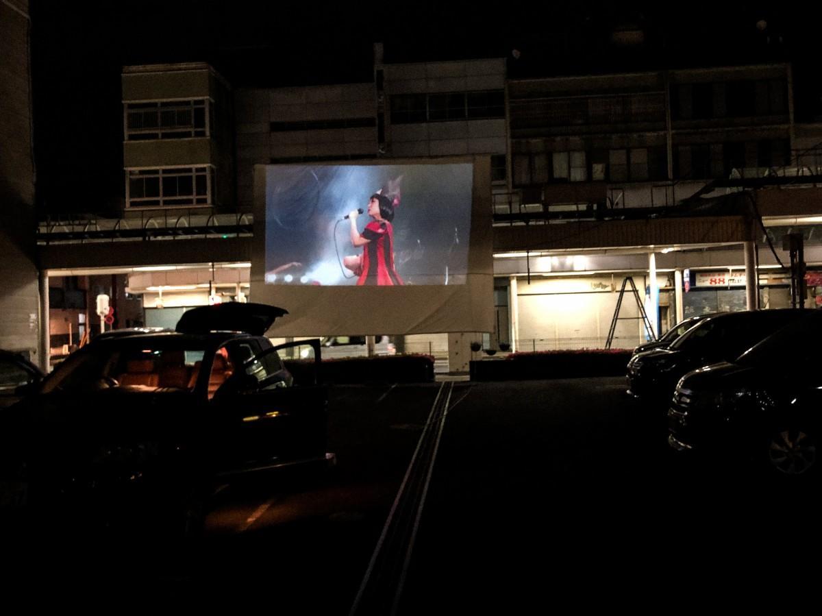 駐車場とスクリーン
