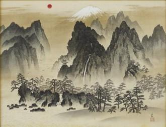 フジヤマミュージアムで春の収蔵作品展 横山大観「蓬莱神山」初公開