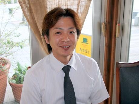 「龍馬カプチーノ」で話題を集める野田信治さん