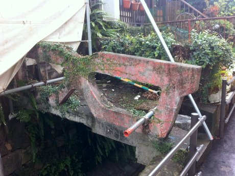 9月中に撤去される「裏眼鏡橋」
