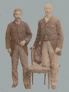 岩崎弥之助(左)とグラバー