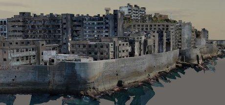 軍艦島3DCG