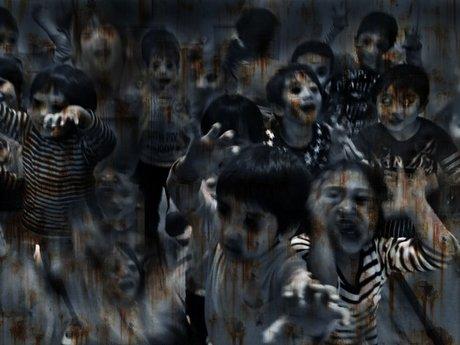 悪魔化した園児のイメージ画像