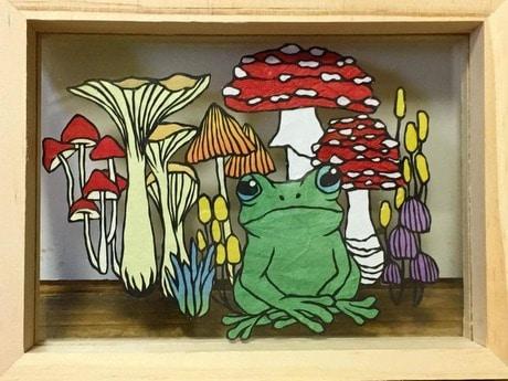 コバタさんの作品「カエルときのこ」