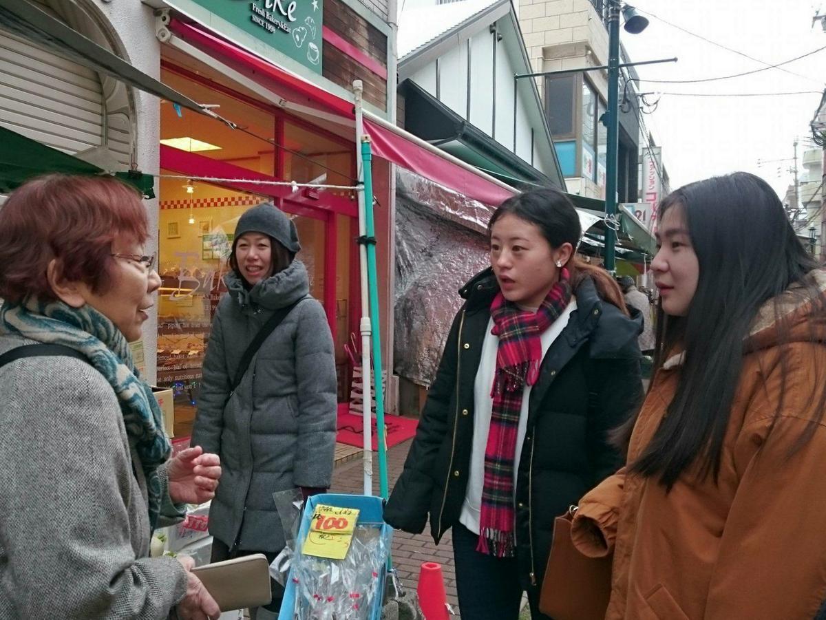 外国人留学生のワークショップ風景