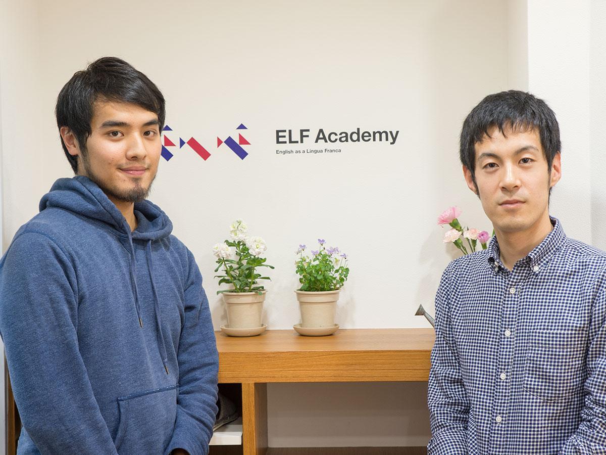 塾長の松本さん(左)と山中さん
