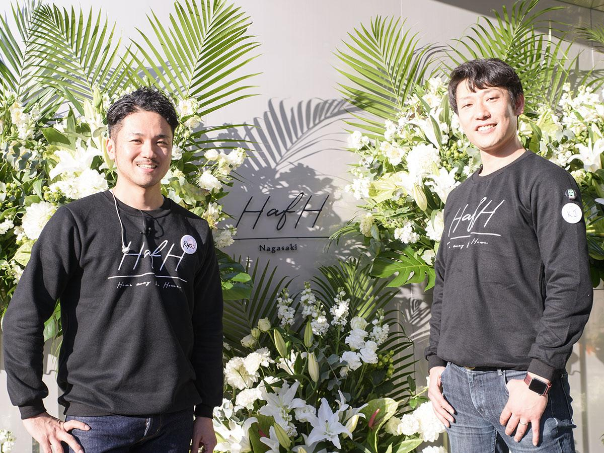 KabuK Style共同代表の大瀬良亮さん(左)と砂田憲治さん