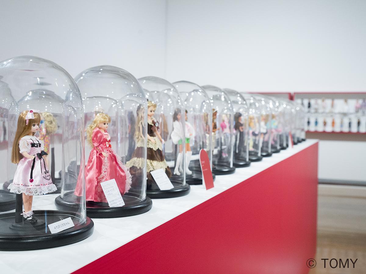 展示されるリカちゃん人形(4代目)