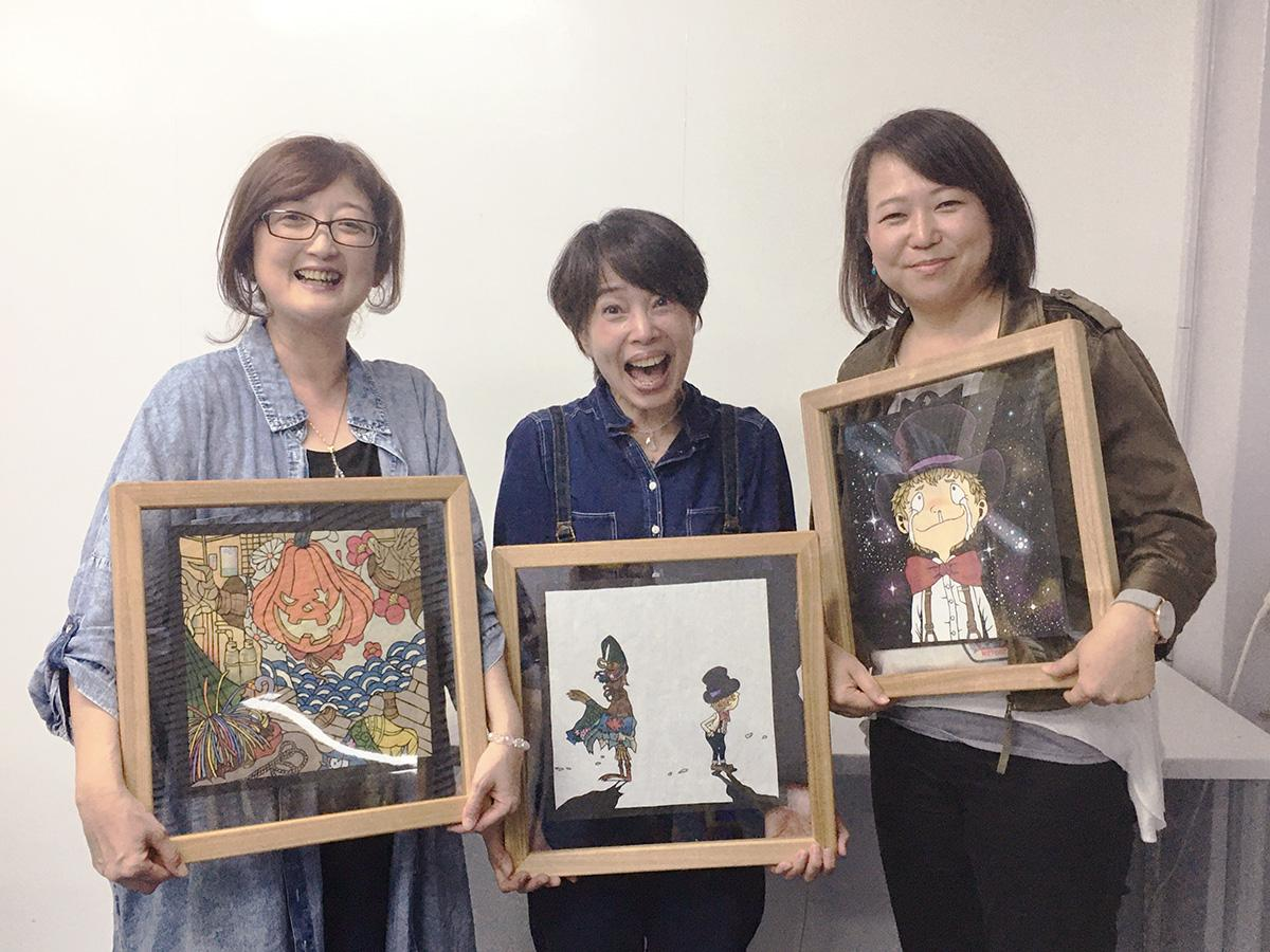 (左から)野上さん、西村さん、コバタさん