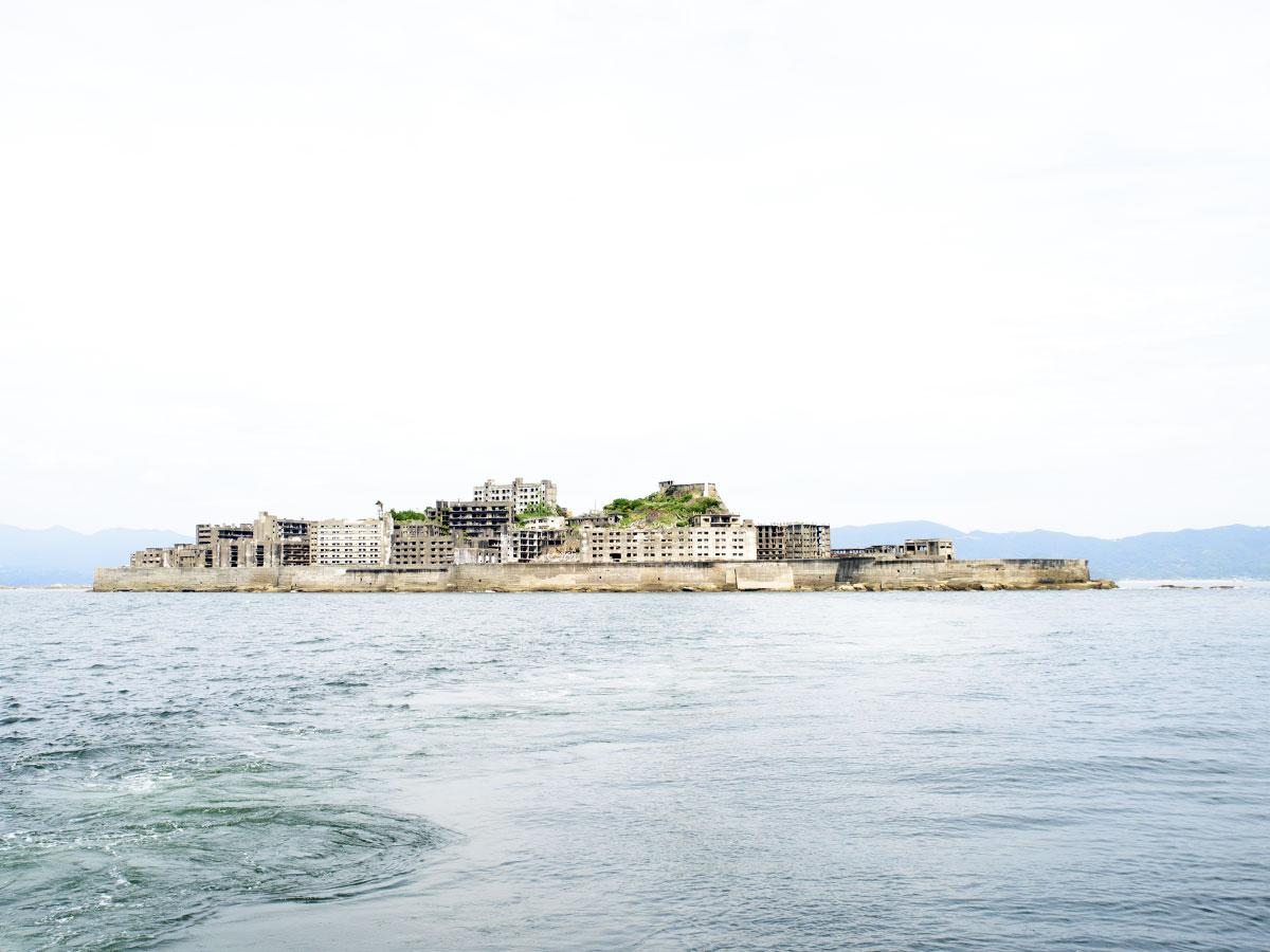 上陸施設の一部が制限される軍艦島(端島)